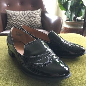 SALE ⭐️ 14th & union black patent leather loafers